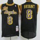 Los Angeles Lakers #8 Kobe Bryant Black Basketball Jersey