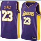 2018-2019 Lakers 23# Lebron James purple basketball Jersey