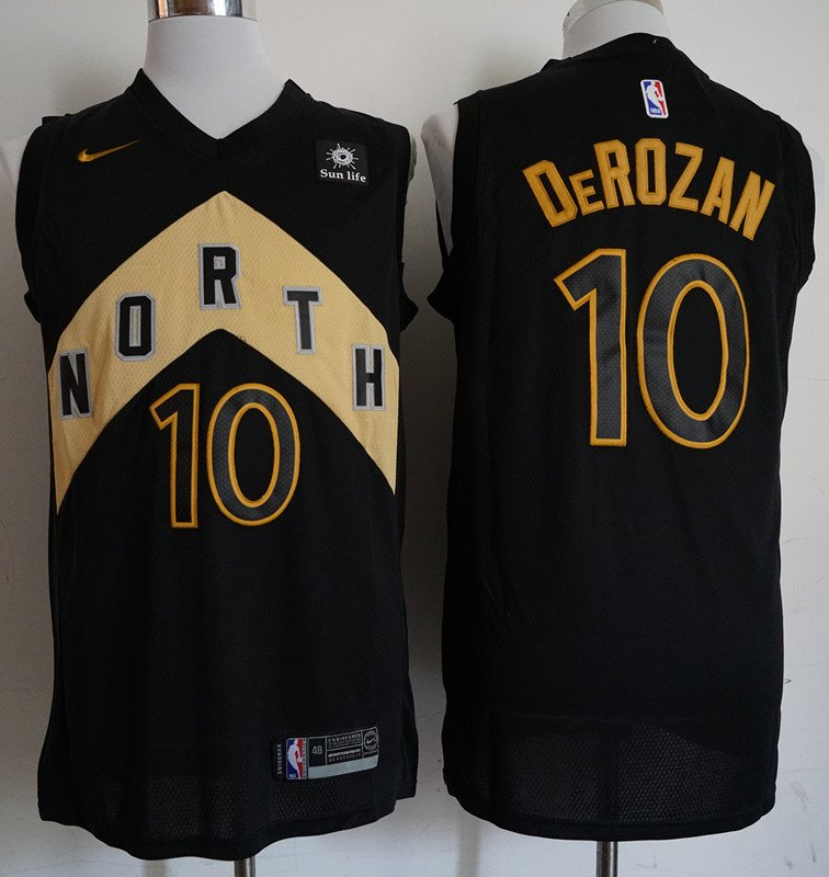 buy popular d67e0 6d4d3 Mens 2018 Raptors #10 Demar Derozan Black Basketball Jersey