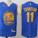 Golden State Warriors 11 Klay Thompson Blue Basketball Jersey
