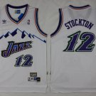 John Stockton Utah Jazz #12 White Basketball Stitched Jersey