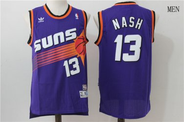 quality design ddd97 836f6 Phoenix Suns Steve John Nash #13 Purple Basketball Jersey