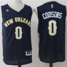 Men's New Orleans Pelicans #0 DeMarcus Cousins Blue Basketball Stitched Jersey