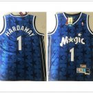 Orlando Magic #1 Penny Hardaway Fine Embroidery Basketball Throwback Jersey Blue