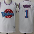 Men's Space Jam Tune Squad Bugs #1 White Basketball Jersey