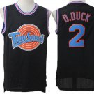 Men's Space Jam Tune Squad D. Duck #2 Black Basketball Jersey