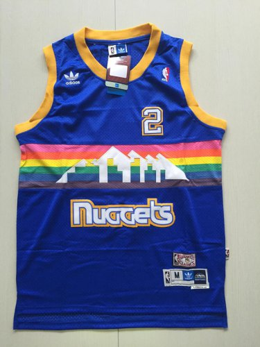 the best attitude 150b2 738e3 Mens Denver Nuggets 2 Alex English Blue Basketball Jersey