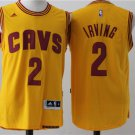 Men's Cleveland Cavs Cavaliers Irving Jersey #2 Basketball Jerseys Yellow
