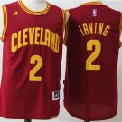 Men's Cleveland Cavaliers Irving Jersey #2 Basketball Red Jersey
