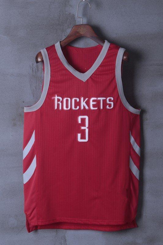 Mens Chris Paul Jersey 3 Houston Rockets Stitched Basketball Jersey Red