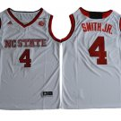 NC State Wolfpack Dennis Smith JR. #4 White College Basketball Jersey