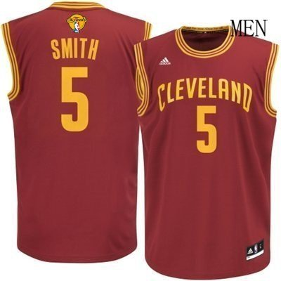 Cleveland Cavs Cavaliers 5# JR Smith Basketball jersey red