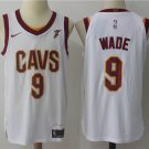 Mens Cleveland Cavaliers 9 Dwyane Wade Stitiched Basketball Jersey White