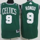 Boston Celtics 9# Rajon Rondo Green Basketball Jersey