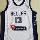 Men's Greece Team Hellas Giannis Antetokounmpo #13 White Basketball Jersey
