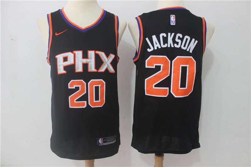 Mens Phoenix Suns 20 Josh Jackson Stitched Basketball Jersey Black
