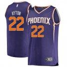 Mens Los Suns 22 Deandre Ayton Purple Basketball Stitched Swingmen Jersey
