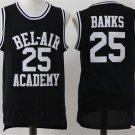 The Fresh Prince of Bel-Air Jersey Carlton Banks #25 Basketball Jersey Black