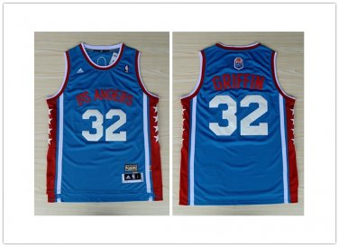 official photos 6cb7e c8b95 Mens LA Clippers 32# Blake Griffin Basketball Throwback Jersey Blue New