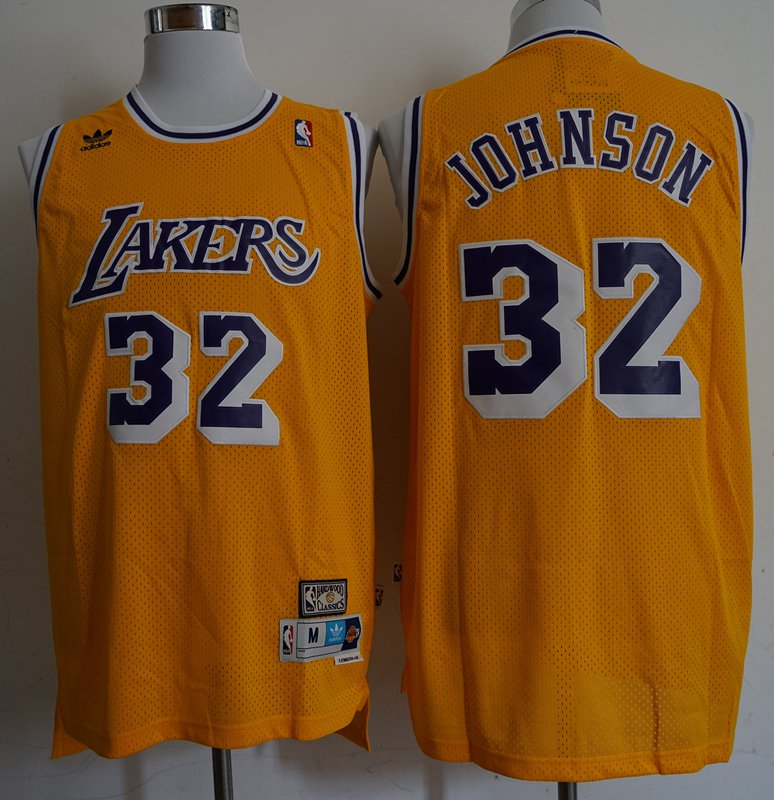 Los Angeles Lakers 32# Magic Johnson Swingman Basketball 3D