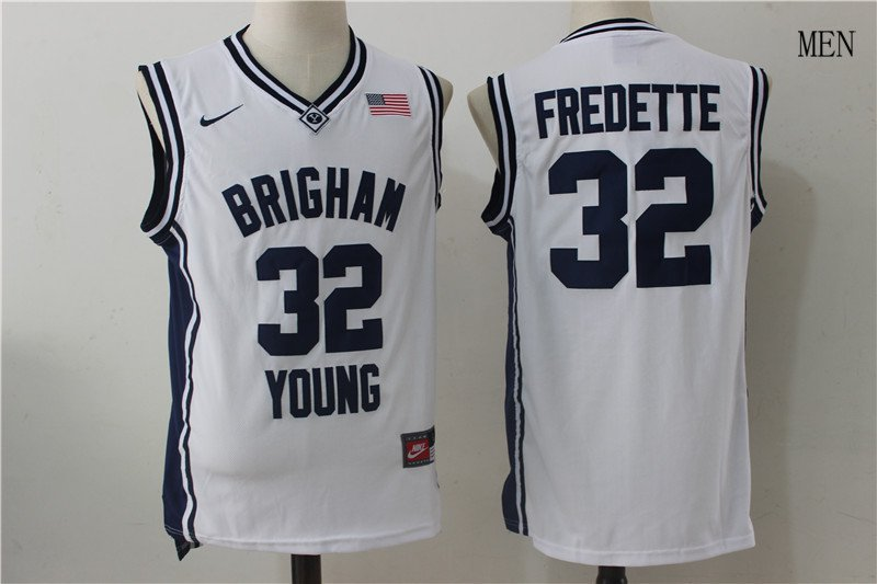 f051ca1ce Brigham Young Cougars Jimmer Fredette  32 Navy College Basketball Jerseys