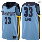 Memphis Grizzlies #33 Marc Gasol blue swingman basketball jersey