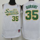 Seattle Supersonics #35 durant basketball jersey white