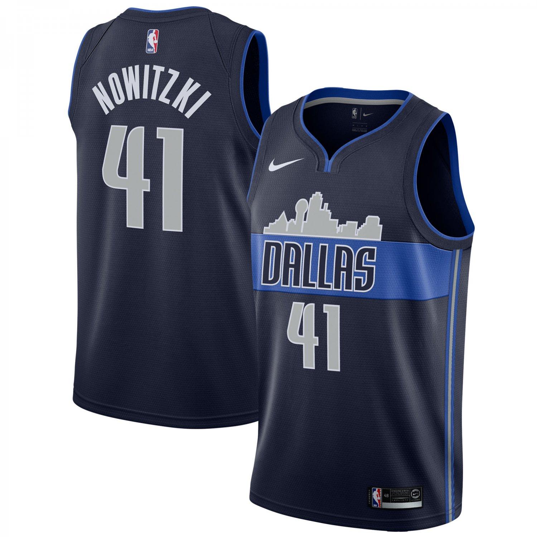 Dallas Mavericks #41 Dirk Nowitzk Black Basketball Swingmen Jersey