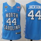North Carolina Tar Heels 44# Justin Jackson Throwback College Basketball Jersey Blue