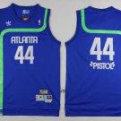 Atlanta Hawks 44 Pistol Pete Maravich Throwback Swingman Jersey Basketball Jerseys Blue