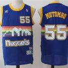 Dikembe Mutombo 55# Denver Nuggets blue Basketball Stitched Jersey