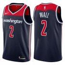 Men's Washington 2# Wizards John Wall Black Basketball Jersey