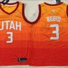 Utah Jazz City Edition 3# Ricky Rulio Orange Basketball Jersey