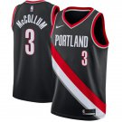 Portland Trail Blaze 3# CJ McCollum Basketball Jerseys Black City Edition