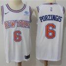 Knicks jersey Porzingis #6 Basketball white jersey