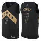 Toronto Raptors #7 Kyle Lowry Black Basketball Jerseys