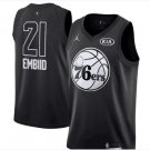 ALL STAR GAME Philadelphia 76ers 21 Joel Embiid Basketball Jersey Black