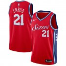 Philadelphia 76ers #21 Joel Embiid Red Basketball Jerseys