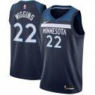 2018 Minnesota Timberwolves 22 Andrew Wiggins Basketball Jersey Blue