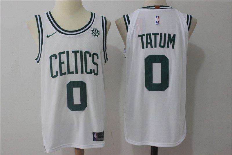 buy online ab8dd fbe5f Youth Boston Celtics 0 Jayson Tatum Black Basketball ...