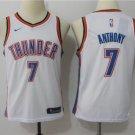 Youth Carmelo Anthony Oklahoma City Thunder 7 Basketball Jersey White