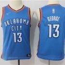 Youth Oklahoma City Thunder #13 Paul George Blue Basketball Jersey