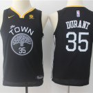 Youth Golden state warriors 35 Kevin Durant Black Basketball Jersey