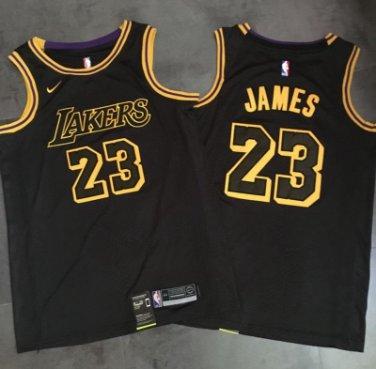 2018 New Los Angeles Lakers 23# LeBron James Black