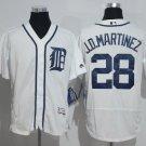Men's Detroit Tigers 28 J.D Martinez White Flexbase Baseball Jersey