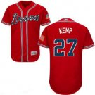 Men's Atlanta Braves #27 Matt Kemp Cool Base Jersey red