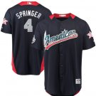 2018 all star Houston Astros 4 George Springer Baseball Jersey Navy Blue