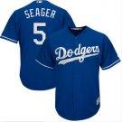 Men's Los Angeles Dodgers 5 Corey Seager Royal Alternate Cool Base Jersey