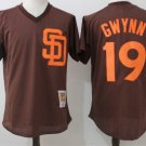 Men San Diego Padres #19 Tony Gwynn brown stitched Jersey pullover