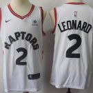 Men's Toronto Raptors 2# Kawhi Leonard White Basketball Jersey